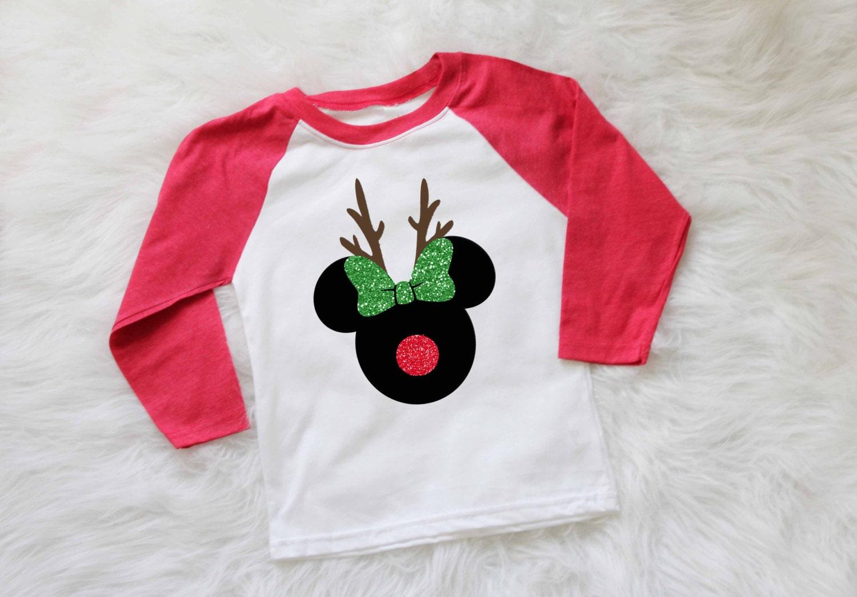 Design your own t-shirt hamilton - Childrens Disney Christmas Shirt Minnie Mouse Reindeer Shirt Mickey Mouse Reindeer Shirt Disney Holiday Shirt Personalized Christmas Shirt