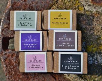 6 Handmade 100% Natural Soaps, Nourish Range, large soaps, vegan soaps