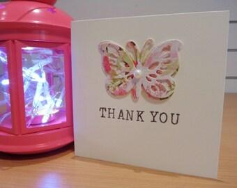 Handmade Greetings Card - Thank you / Love