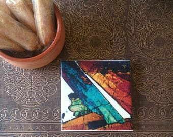 Bathroom or Kitchen Custom Feature Tiles - Thin Section Mineral Photography - Art and Science