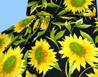 Exclusive cotton - VOILE with sunflowers
