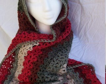 Reds and grey hoodie wrap