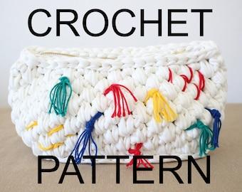 Crochet Bag Pattern, Crochet Purse Pattern, Gift for Her, Cinco De Mayo, Zip Handbag, Purse Tutorial, Modern Crochet Patterns, Mexican Purse