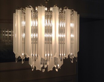Mid Century Lucite Chandelier - 15% cupon with cupon: SUMMER15