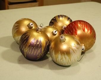 Vintage Glass Ball Ornaments