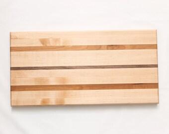 Maple, Walnut & Cherry Cutting Board