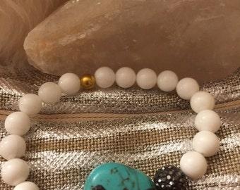 Onyx and turquoise bracelet