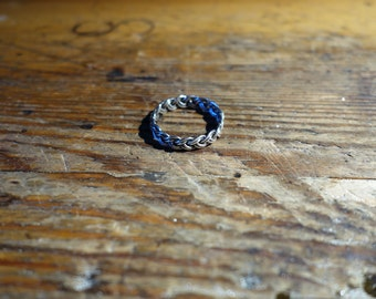 braided silver ring Viking medieval