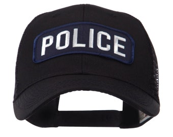 Text Law and Forces Embroidered Patched Mesh Cap