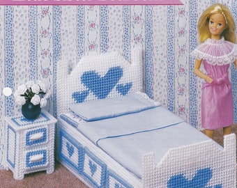 Little Sister Bedroom, Annie's Fashion Doll Furniture Plastic Canvas Pattern Leaflet FP16-02