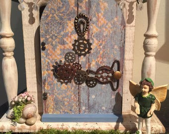 SteamPunk Fairy Door, Miniature SteamPunk Fairy Door, SteamPunk Gnome Door, SteamPunk Door