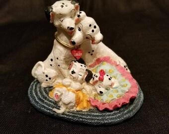 Dalmatian Family, Resin Figurine, Vintage 90's Puppies Figures