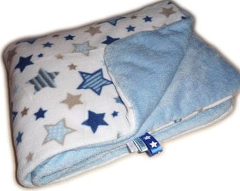 "Blanket polar baby ""A STAR IS BORN"" / soft blanket and ultra soft for baby / baby blanket quilted"