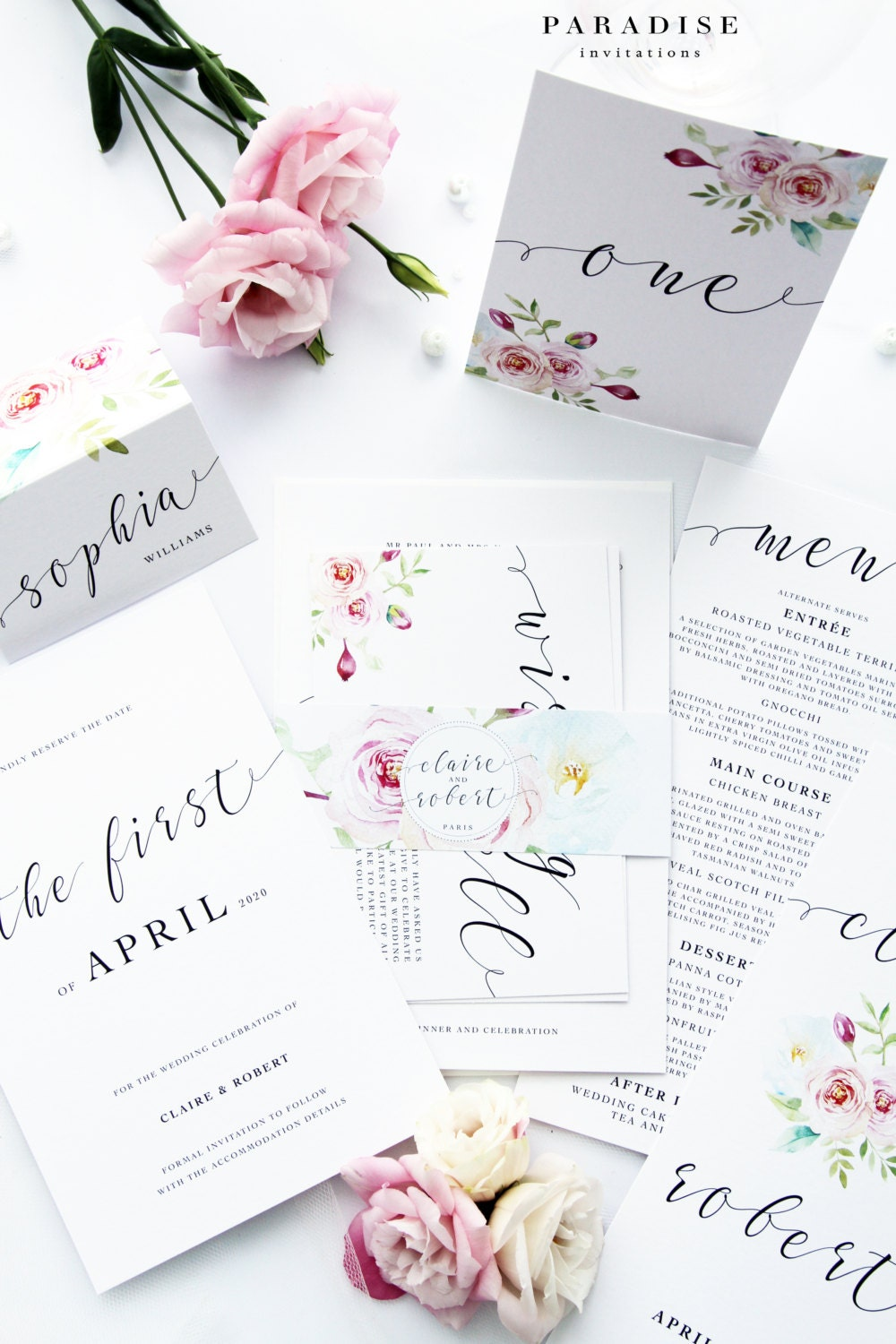 Cheap Wedding Invitations Packages: SPECIAL OFFER 17 Complete Wedding Package Discount Romantic