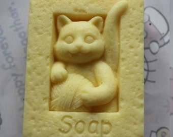 Cat & Wool Silicone Mould