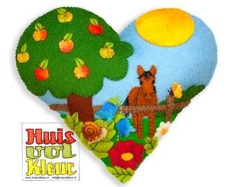 PDF Pattern Summer Heart Around the Appletree