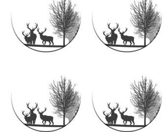 A pack of 4 of silhouette stags Pattern weights I deal for weighing down patterns on delicate fabrics no need for pins like TV sewing Bee