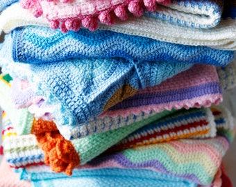 Colorblock Crochet Blanket, baby blanket, crib blanket, baby gift