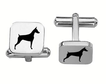 Doberman Cufflinks | Dog Cufflinks | Custom Cufflinks | Stainless Steel