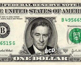 ROBERT de NIRO on a REAL Dollar Bill DeNiro Cash Money Collectible Memorabilia