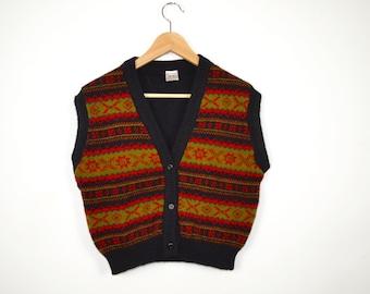 Vintage Fair Isle Sweater  | Vintage Fair Isle Tank Top |  Vintage Shetland Sweater | Vintage Fair Isle Woolen Vest
