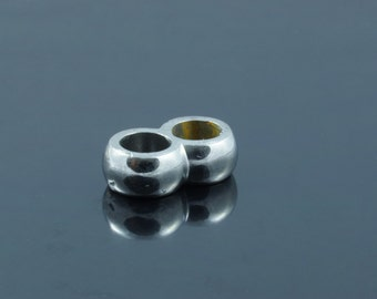 Stainless Steel double Leather Cord Clasp.4x12x7mm, Hole: 3.8mm