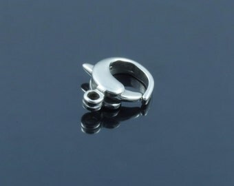 Stainless Steel Lobster Claw Clasps. 12x11x4mm, Hole: 1mm