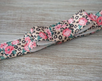 Leopard Flower Printed Bow Headband