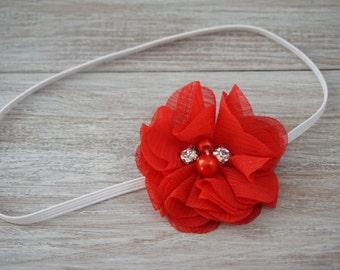 Red Rhinestone Headband