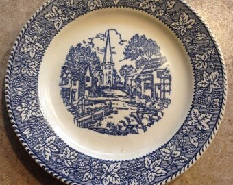 Shakespear country  blue and white plate