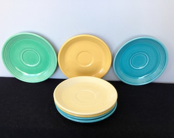 Vintage Fiestaware Saucers - Various Colors - 7 Available!