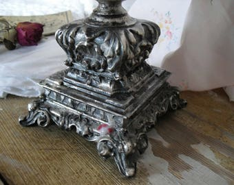 French shabby candle holder