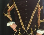 Men's Renaissance Noble Brown Gold Costume Faire Halloween Theater