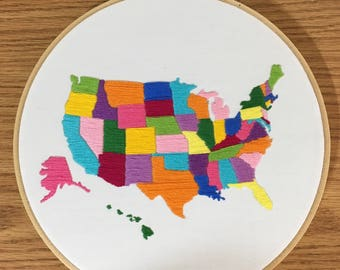 Embroidered United States