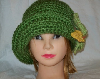 Crochet Flapper Cloche Hat