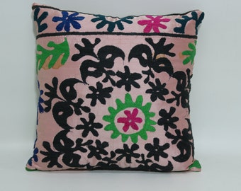 Bedroom Suzani Pillow 16x16 Decorative Suzani Pillow Throw Pillow Turkish Pillow Throw Pillwo Ethnic Pillow Cushion Cover SP4040-1749
