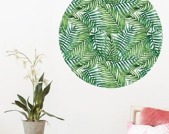 Tropical Leaves Dot Wall Decal