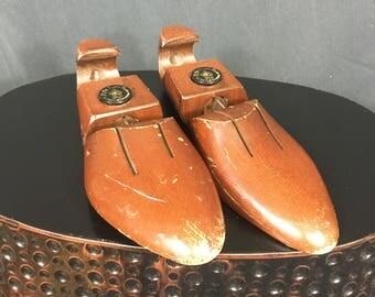 Vintage Shoe Lasts, Wood Shoe Lasts, Father's Day Gift, Adjustable, Phillip Lane Shoes, Cottage Decor, Farmhouse Decor, Cobbler Shoe Lasts