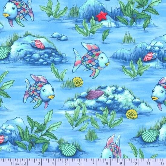 The rainbow fish fabric with coordinates marcus bros for Rainbow fish fabric