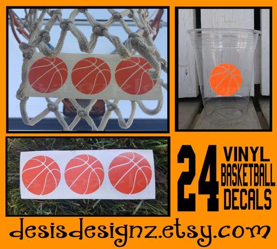 24 Basketball Vinyl Decals Athelete Sports Party Birthday