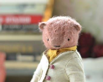 Teddy Bear Savely Toy Stuffed Animal 5.9 inches mohair teddy