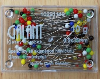Glass Head Steel Pins - length 35 mm Galant