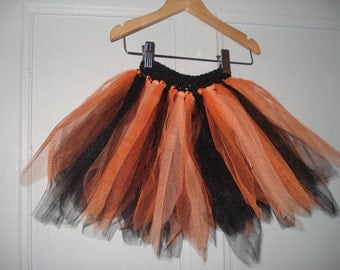 Orange and black Tutu one size fits 2-6 years