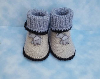 Elephant baby booties , Baby boots gift for baby kids boots  gift for soon to become mom gifts  gift for soon to become dad,socks