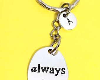 Always keychain, always charm, Always word keychain, keychain accessories, always and forever, keychain gift, always, I will always love you