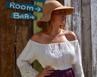 White Off-The-Shoulder Top | White Top | Off-The-Shoulder Top| Lace Off-The-Shoulder Top | Comfortable Off-The-Shoulder Top| Easy Wear Top