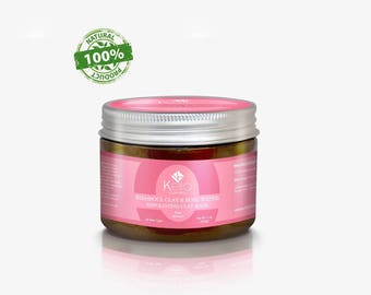 100% Pure and Naturel Moroccan Rhassoul Clay with Rose - Hair, Face, Body Mask
