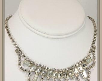 Vintage Rhinestone Choker,Vintage Choker,Vintage Jewelry,Vintage Jewellery,Vintage Rhinestone Necklace,Vintage Necklace,Statement Necklace