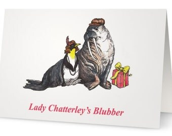 Lady Chatterley's Blubber Lady Chatterley's Lover D.H. Lawrence-inspired funny illustrated greetings card
