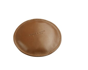 Round Leather Paperweight
